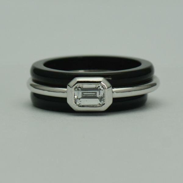 Inel de platina cu diamante
