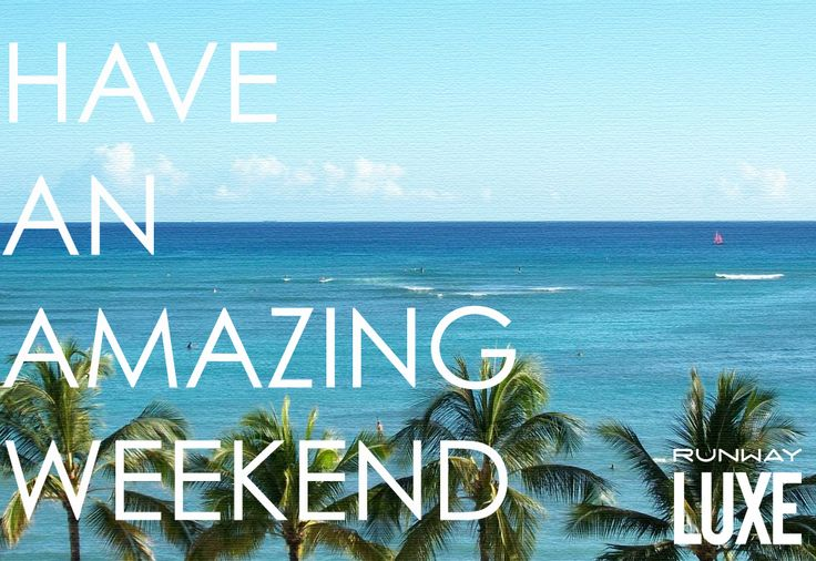 "#WEEKENDLOVE ~ENJOY 25% OFF YOUR WEEKEND PURCHASES! USE PROMO CODE ""RWAYLUXE14""~ www.runwayluxe.com"