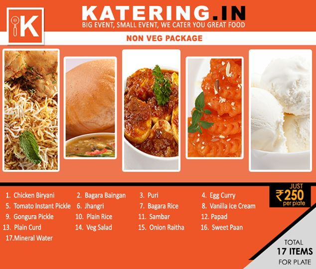 Presenting #Katering's tempting #nonvegetarian package apt for your next occasion.