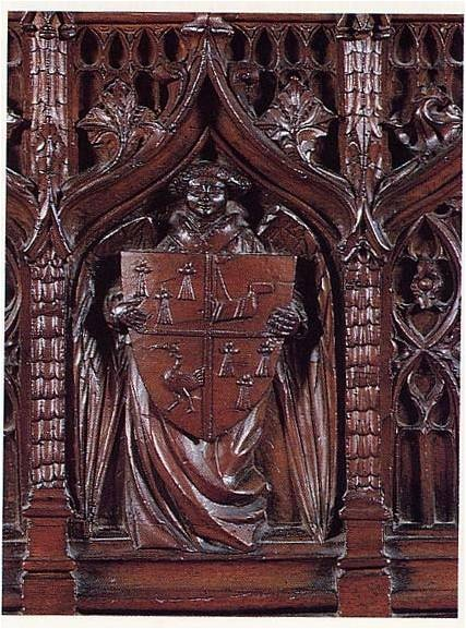 This is a detail on a medieval chest
