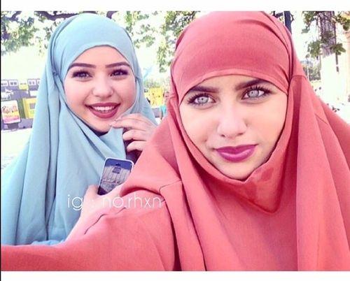 hijab, eyes, and islam image