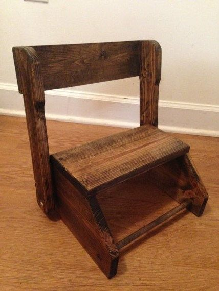 Childs Wooden Step Stool Chair Woodworking Projects Plans