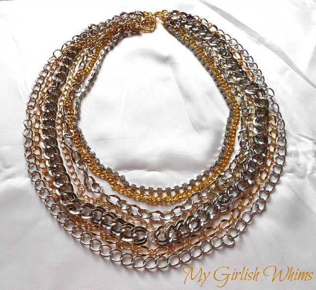 Ожерелье из цепей