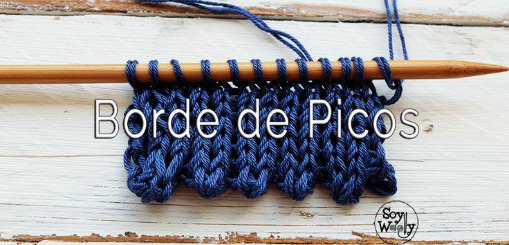 Una técnica/truco muy fácil para #tejer diferente: Borde de Picos en #dosagujas #soywoolly #punto