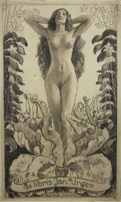 Erotic ex libris alphonse inoue 8