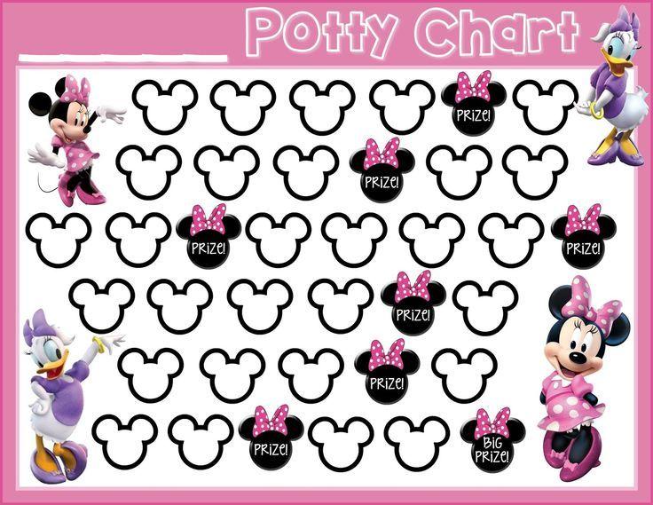 Potty Training! {Free Printable} Minnie Mouse Daisy Duck free printable potty training chart, potty training girls, potty training motivation