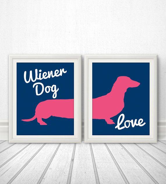 Wiener Dog Love Wiener Dog Dachshund Wiener by BentonParkPrints, $28.00 TOTALLY ME!
