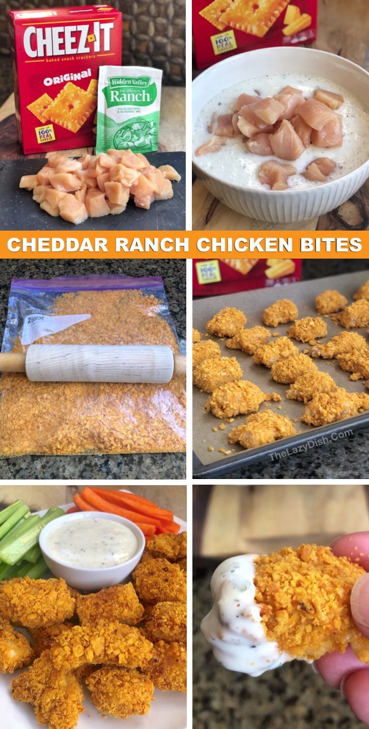 Cheez It Covered Chicken Nuggets Soo Good Quick Easy To Make Recipe Recipes Chicken Bites Cooking Recipes