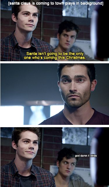 Stiles uses a classic pick-up line on Derek... it works ;)
