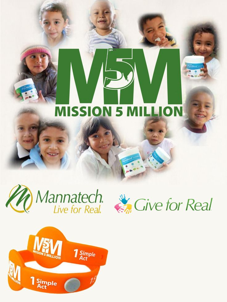 Mission 5 Million Connecting 5 million consumers with 5 Million children that die each from malnutrition