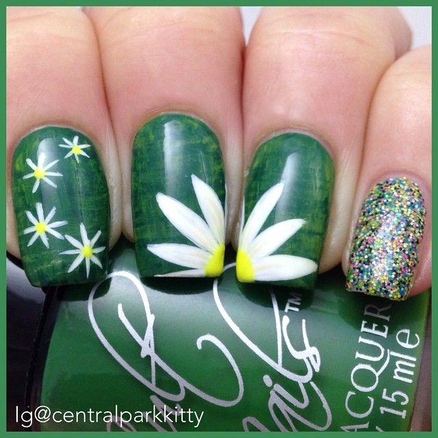 Atractivo Caer Diseños De Uñas De Flores Ornamento - Ideas Para ...