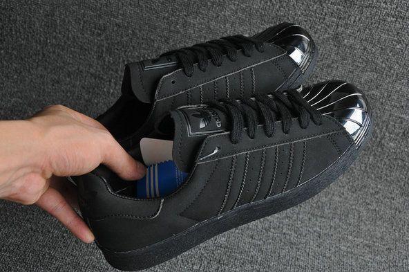 Adidas Superstar 80s Metal Toe Black Metallic Silver
