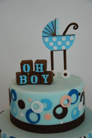 Oh Boy baby shower cake by bertha