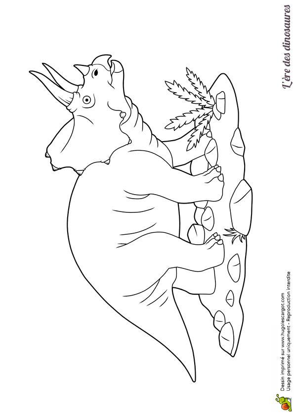 schöne farbzeichnung eines triceratops dinosauriers in