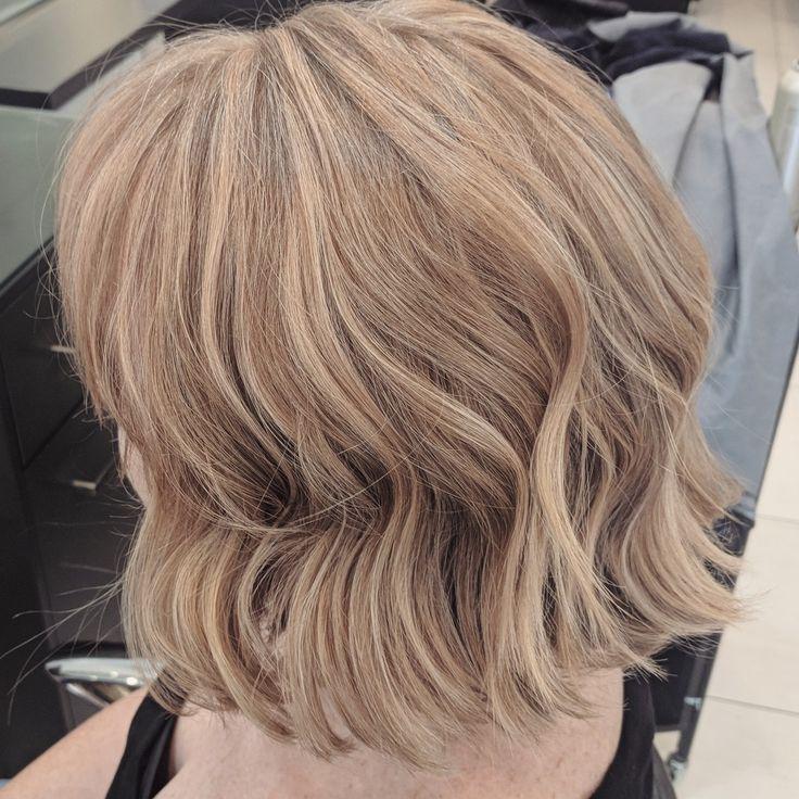 Rose gold modern bob blonde