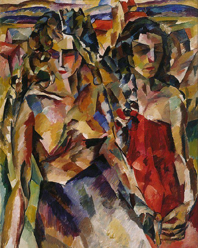 The Athenaeum - Two Women (Aristarkh Lentulov - )