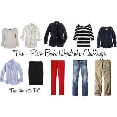 10 - Piece Basic Wardrobe Challenge - Polyvore @Debbie Daley