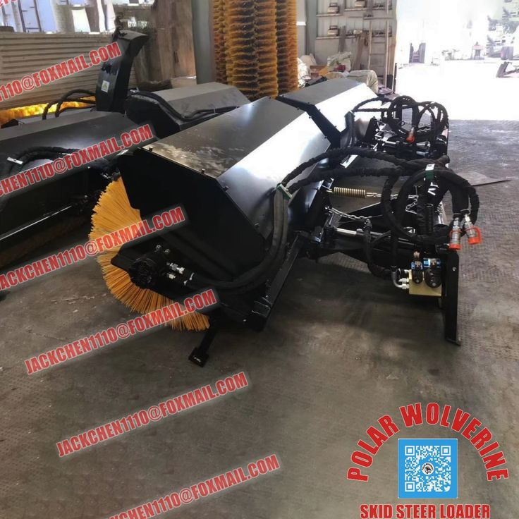 Foway Polar Wolverine Skid Steer Attachments Sweeper Available For Brands Of Skid Steer Loaders In 2020 Skid Steer Attachments Skid Steer Loader Wolverine