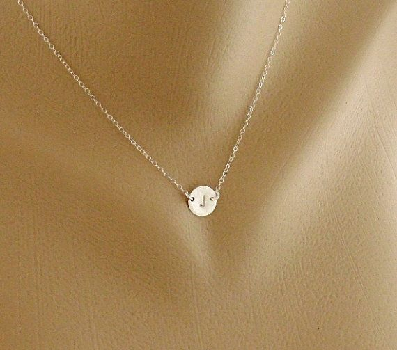 Circle disc Necklace Sterling silver necklace Custom by hotmixcold, $24.00