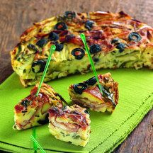 Clafoutis jambon courgette