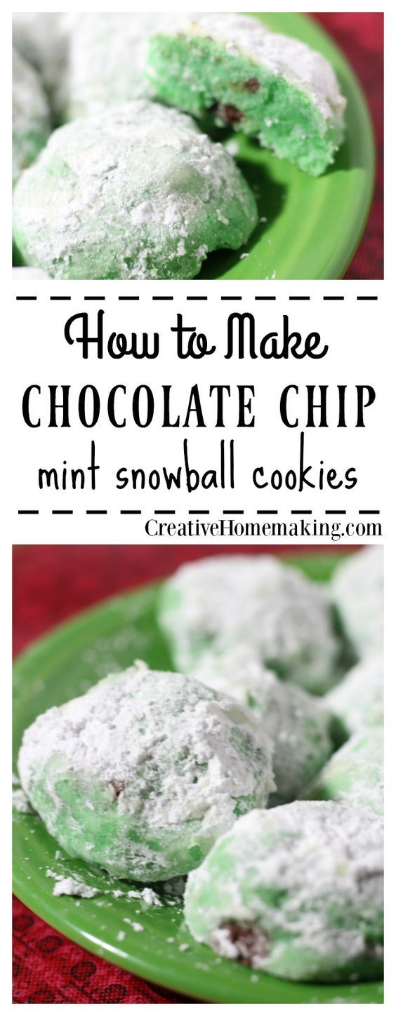 These mint snowball cookies are fun to make and even more fun to bite into. They are the perfect combination of chocolate and mint. Give these easy cookies a try for your next holiday or Christmas cookie exchange.