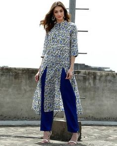 Set Of Floral Tunic With Palazzo I Shop at : http://www.thesecretlabel.com/designer/desi-doree