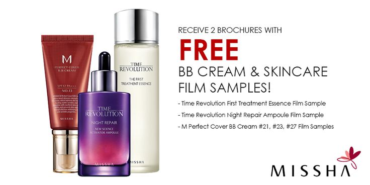 FREE BB CREAM & SKINCARE FILM samples from Misha. Follow the link and enter your info to get your free samples.