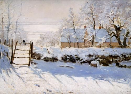 The Magpie - Claude Monet....wish I could paint a winter scene like that