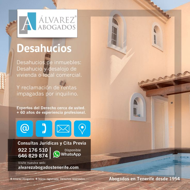 Desahucios de Inmuebles: Desahucio y desalojo de vivienda o local comercial. Y reclamación de rentas impagadas por inquilino. https://alvarezabogadostenerife.com/?p=8195  #Derecho #Abogados #AlvarezAbogados #Tenerife #SomosAbogados #Justicia #TenerifeSur