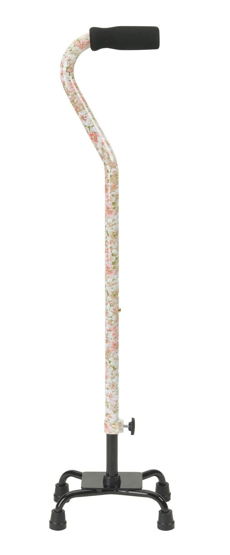 Drive 10312fp-1 Small Base Quad Cane with Foam Rubber Hand Grip