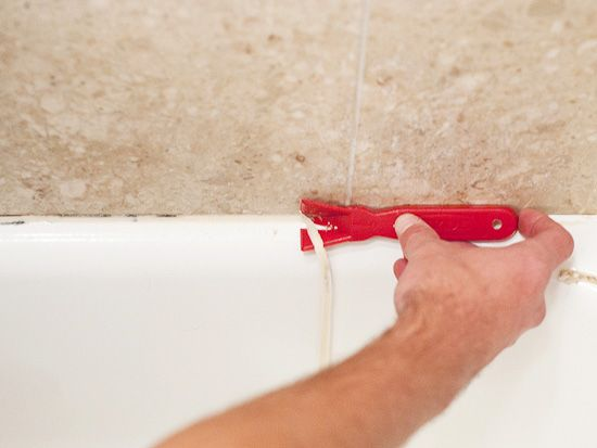 Removing caulk from around your home is as simple as 1, 2, 3, 4.
