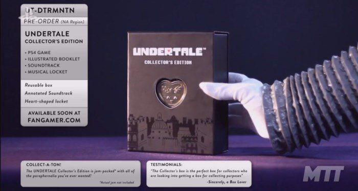 E3 2017: анонсирована PS4-версия и коллекционка Undertale http://itzine.ru/news/games-news/undertale-e3-2017-ps4-version.html  Проект, взорвавший инди-сцену ивообще игровое пространство в2015 году—Undertale—на E3 2017 тоже не пропустил пару анонсов на себя любимого. Во-первых, игра выйдет на приставках, аименно—на PlayStation 4и PlayStationVita.В бокс-версии войдёт не только диск ссамой игрой, но икрайне симпатичный буклетик о24 страницах сартами инабросками. Самый сок для…