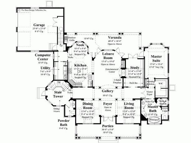 Level 1, awesome Plantation floor plan