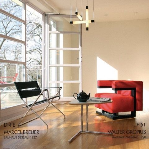 interior example of gropius techa used with marcel breuer folding chair i like how the