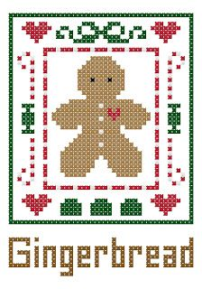 Cross Stitch Happy: Gingerbread Treasure Bag