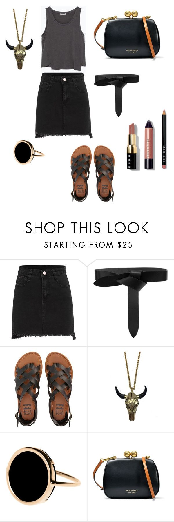 """""""Let's do grey, dark, & black"""" by sammanthap ❤ liked on Polyvore featuring Isabel Marant, Billabong, Zara Taylor, Ginette NY, Burberry and Bobbi Brown Cosmetics"""
