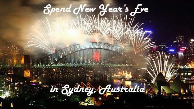 Spend New Year's Eve in Sydney Australia. Check out Sydney on New Years Eve. If there's anyone who knows how to throw down a helluva fun party, it's Aussies! You want fireworks? How about good ole' 'down unda' beer? Done. And while you're at it, don't just stop at Sydney for New Years. Try another major city (Times Square, New York or Disney World in Orlando are phenomenal spots) every January 1 to bring in the new year!