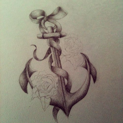 I would like this as a cross not an anchor, the bow at the top a mickey icon, and the rose as a heart.