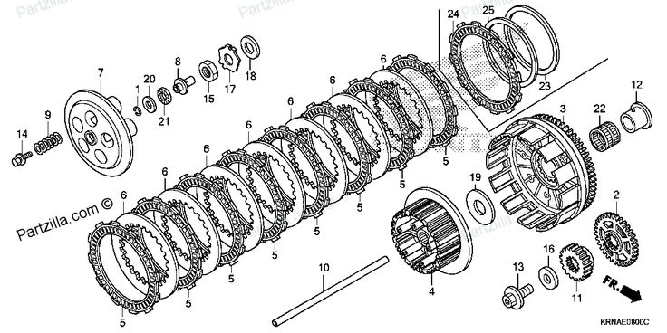 diagram of clutch assembly