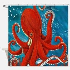 Octopus Shower Curtain for