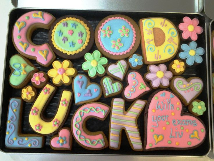 Good luck gift box, for exams, new job etc #cookies #gifts