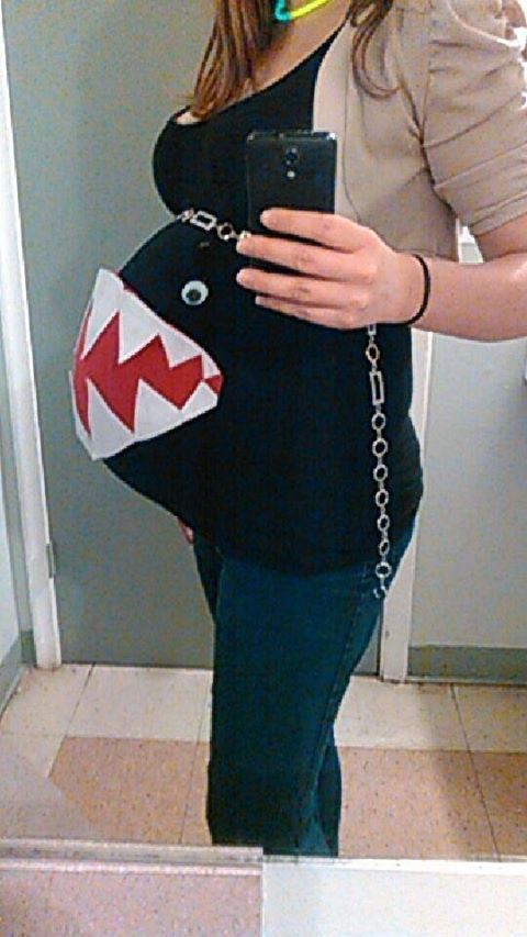 Life of Dad    When you're pregnant, Mario Brother's Chain Chomp is a great costume. ♠ re-pinned by http://www.wfpblogs.com/author/thomas/