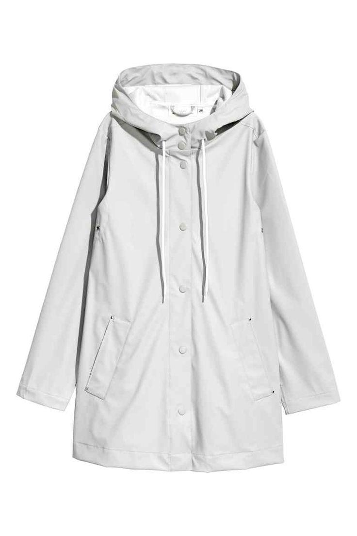 L2017 Płaszcz przeciwdeszczowy - Jasnoszary - ONA   H&M PL
