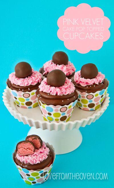 duffle bag for travel Pink Velvet Cake Pop Topped Cupcakes  Recipe