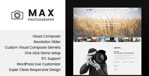 Mejores 417 imágenes de Photograpy Template Wordpress en Pinterest ...