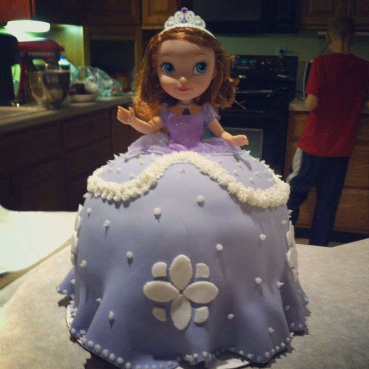 Sofia the First doll cake Sofia party Pinterest Doll ...