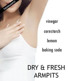 Keep Armpits Dry - Ways to Stop Sweat and odor