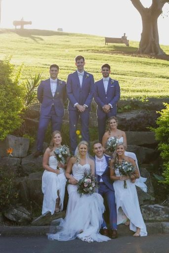 Congratulations to our bride and groom Jess and Nick on a beautiful wedding. Instyle Bridal, Jack Sullivan, Keeley, lace, Ivory and champagne, wedding dress, Australian designer, couture, pretty, sydney, garden bridesmaids dresses, Sorella vita