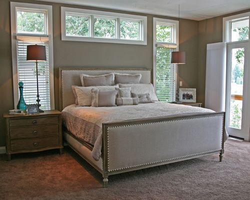 Beautiful Master Bedroom With Gray Walls And French Doors Bedroom Addition Gray Bedroom Walls Beautiful Bedrooms Master
