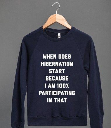 Hibernation - graphic tee - tshirt ideas